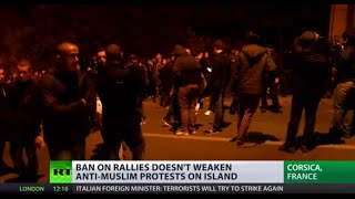'Arabs get out' – Violent anti-Muslim protests spark in Corsica, France