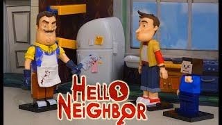 HELLO NEIGHBOR McFarlane Toys Construction Sets Unboxing Stop Motion