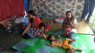 Lombok residents return to shelter following earthquake