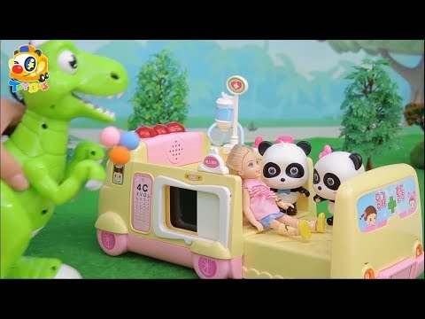 Xxx Mp4 Baby Panda Rescues Little Girl Doctor Panda Rescue Team Baby Doll Story ToyBus 3gp Sex