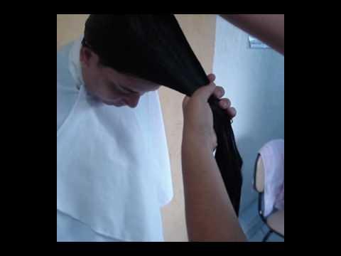 Corte Como repicar seu cabelo em casa.