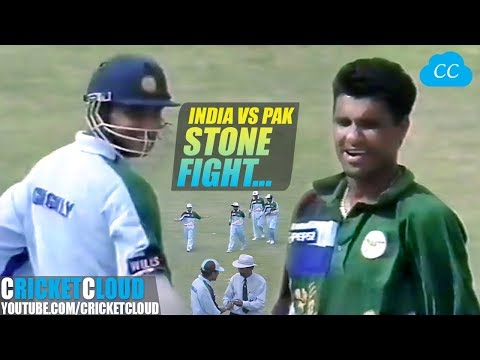 INDvPAK Real Battle with Bat Ball & Some Stones One of the Best Match you can Ever Watch