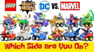 LEGO® Marvel v DC Comics Super Heroes Mighty Micros w/ Batman Iron Man Superman & Spider-man