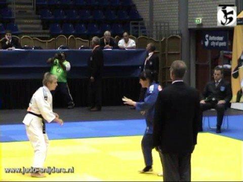 Judo Rotterdam 2008 Rumyantseva RUS Kubicka POL 48kg