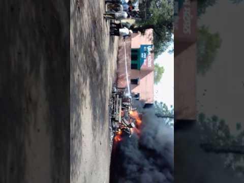 जालंधर के पठानकोट बाईपास में बिजली घर मे लगी भीषण आग।