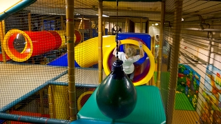 Tube Slide at Busfabriken Indoor Playground