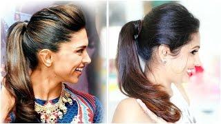 Easy Ponytail Hairstyle | Deepika Padukone | ShrutiArjunAnand