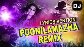 Malayalam Remix Song | poonilaamazha | Malayalam DJ | Lyric video