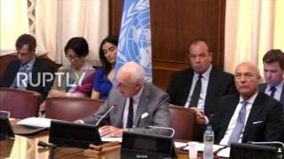 UN: De Mistura says Syrian ceasefire