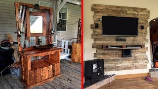 100 Creative DIY Pallet Furniture Ideas | Cheap Recycled Pallet | Chair Bed Table Sofa P1