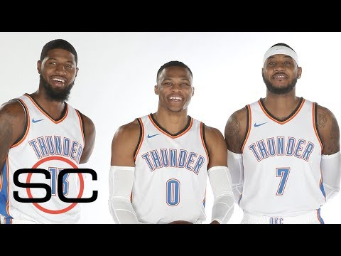Thunder ready to debut with Paul George, Carmelo Anthony and Russell Wesbtook | SportsCenter | ESPN