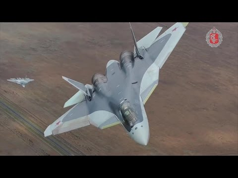 watch Russia MOD - T-50 Pak Fa Stealth Fighter With New Camouflage Paint [1080p]