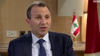 """وزير الخارجية اللبناني جبران باسيل: استقالة الحريري """" لن يقبل بها العالم الحر"""""""
