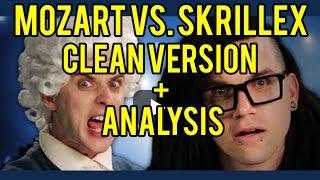 Epic Rap Battle - Mozart vs Skrillex  (Clean Version with Analysis!)