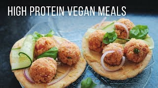 High Protein Vegan Meal Ideas! // Healthy + Easy