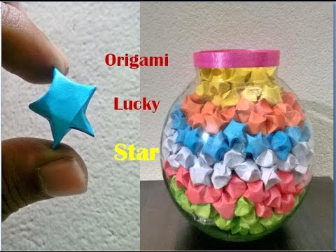 origami lucky stars || DIY || paper stars || lucky stars || how to make lucky stars