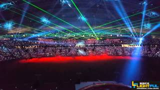 Lightful 18pcs 5W Green laser light for Singapore  National Indoor Stadium 55000 people