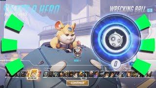 Overwatch - HERO 28 GAMEPLAY!!! [ ALL ABILITIES ] Hammond the Wrecking Ball Hamster!