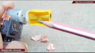 6 SIMPLE LIFE HACKS FOR SHARPENER   YOU MUST KNOW   YouTube