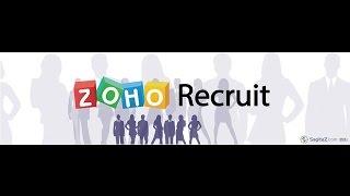 Zoho Recruit - Training Video