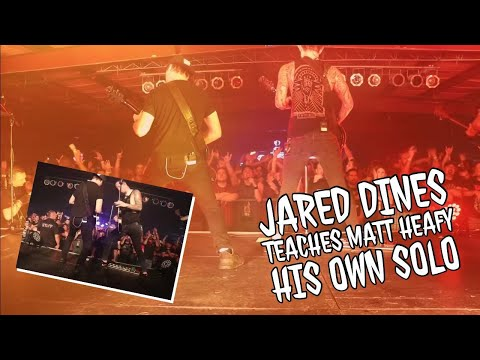 Jared Dines teaches Matt Heafy his own solo