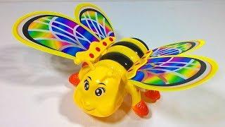 العاب اطفال لعبة النحلة اللي عندها جناحات ملونه و بترفف بجناحاتها الجديدة