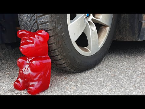 Crushing Crunchy & Soft Things by Car EXPERIMENT CAR vs GIANT GUMMY BEAR Five pound
