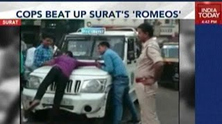 Police Brutality In Gujarat: Surat Cops Beat Up Youth In Public
