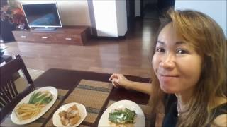 What is aThai lady Can Cook for her Lunch at Home ?...Alina & Rein's life