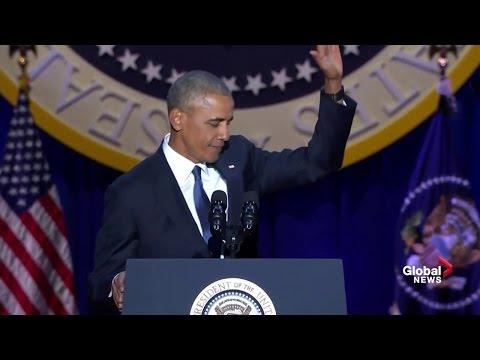 watch President Barack Obama's farewell address (full speech)