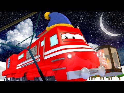 Troy der Eisbahn Zug läßt den See zufrieren für die Schlittschuh Party - Troy der Zug in Zugstadt...
