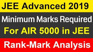 Marks Required in JEE Advanced 2019 Exam For less than AIR 5000   Marks rank Analysis