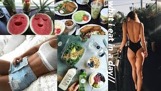 what i eat in a day (non vegan + healthy)