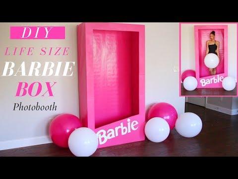 Xxx Mp4 Life Size Barbie Box Barbie Box Photo Booth DIY Barbie Party Decoration 3gp Sex