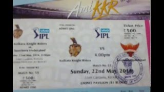Ticketgenie KKR IPL T20 Cricket Match Ticket Delivery by DTDC Courier
