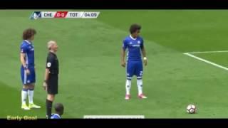 WILLIAN AMAZING FREE KICK GOAL / Chelsea - Tottenham Hotspur GOAL