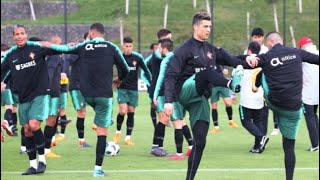 Cristiano Ronaldo and Portugal squad training for Iran   Portugal vs Iran   World Cup Russia 2018