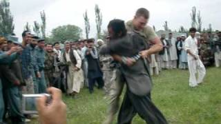 paratrooper beatin afghan ass