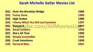 Sarah Michelle Gellar Movies List