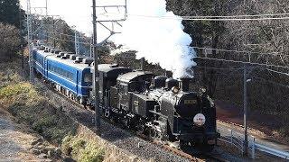 カニ目の《C11-207号機》牽引の東武鉄道【SL大樹】走行シーン