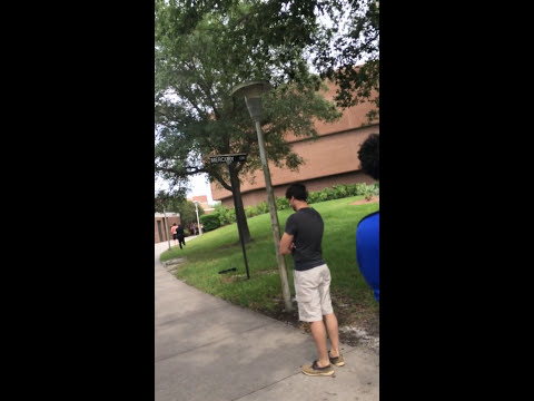 Xxx Mp4 Kid Tripping Balls Infront Of UCF Library 3gp Sex