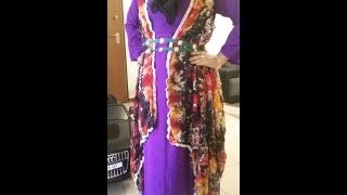 cutting and stticing abaya or long maxi dress tutorial.in bangla