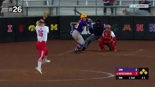 Top 40 Defensive Plays of the Year | B1G Softball