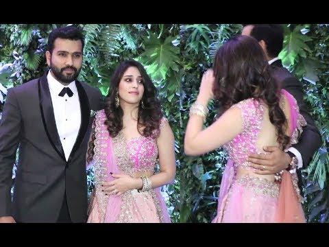 Xxx Mp4 Rohit Sharma With Wife Ritika Sajdeh At Virat Anushka Mumbai Reception 3gp Sex