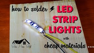 Soldering led light strips for your boat how to solder led strip lights with cheap materials aloadofball Choice Image