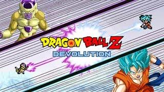 Dragon Ball Z Devolution: Super Saiyan God Super Saiyan Goku vs. Golden Frieza!