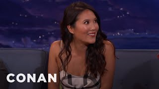 Ally Maki Stole Justin Bieber's Jersey  - CONAN on TBS