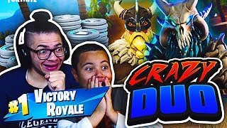 *NEW* MAGNUS SKIN & RAGNAROK SKIN ARE UNSTOPPABLE! FORTNITE BATTLE ROYALE DUOS WITH 9 YR OLD BROTHER