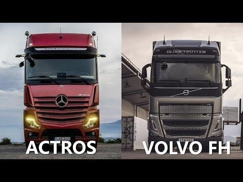 2021 Volvo FH vs 2020 Mercedes Benz ACTROS 1846