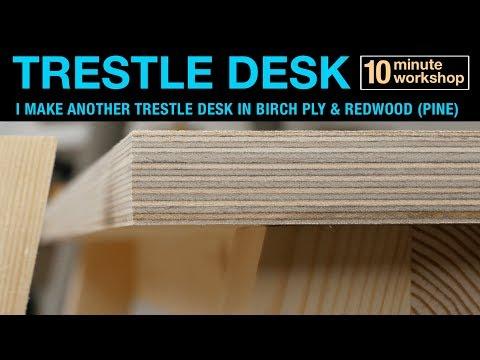 Xxx Mp4 Trestle Desk In Birch Ply And Redwood Pine 143 3gp Sex